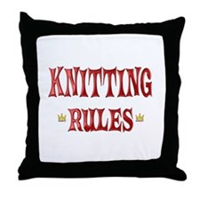 Knitting Rules Throw Pillow