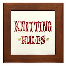 Knitting Rules Framed Tile