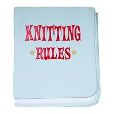 Knitting Rules baby blanket