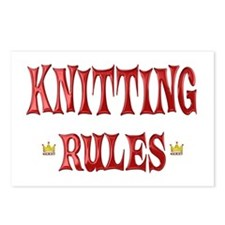 Knitting Rules Postcards (Package of 8)