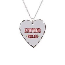 Knitting Rules Necklace