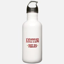 Knitting Rules Water Bottle