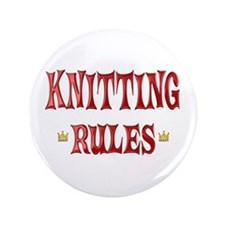 "Knitting Rules 3.5"" Button"