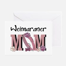 Weimeraner MOM Greeting Card