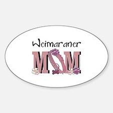 Weimeraner MOM Sticker (Oval)