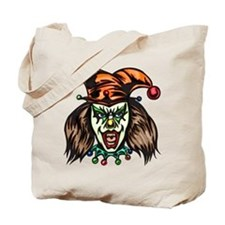 Mentally Unstable Evil Clown Tote Bag