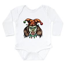 Mentally Unstable Evil Clown Long Sleeve Infant Bo