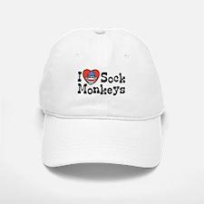 I Love Sock Monkeys Baseball Baseball Cap