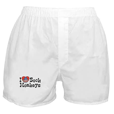 I Love Sock Monkeys Boxer Shorts