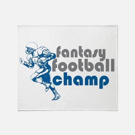 Fantasy Football Champ Throw Blanket