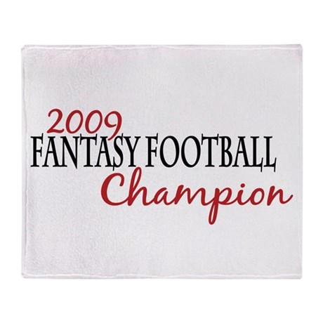 2009 Fantasy Football Champ Throw Blanket