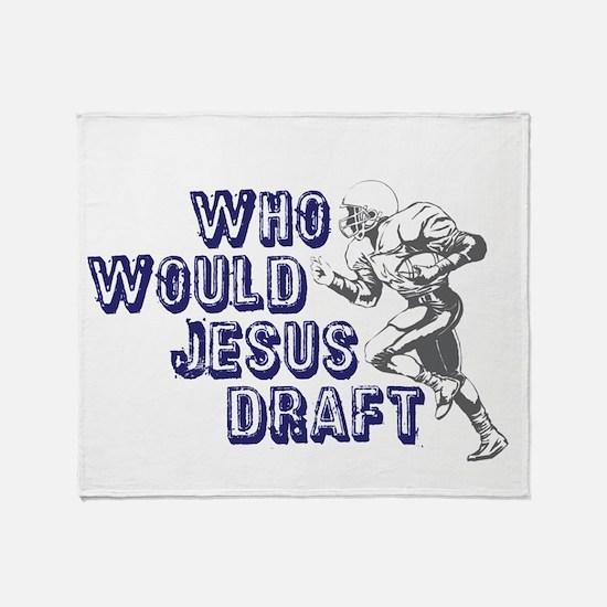 Fantasy Football Jesus Draft Throw Blanket