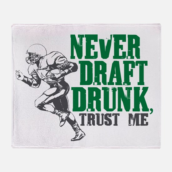 Fantasy Football Draft Drunk Throw Blanket