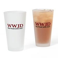 WWJD (Fantasy Football) Drinking Glass