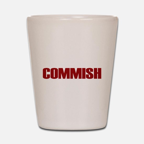 Commish (Red) Shot Glass