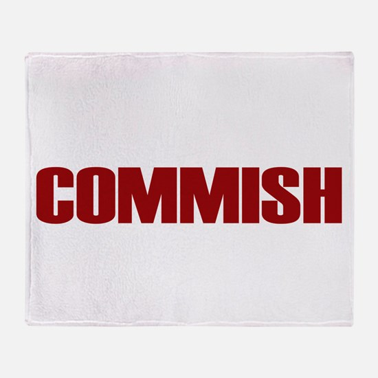 Commish (Red) Throw Blanket