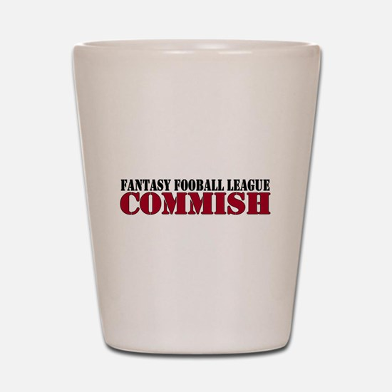 Fantasy Football Commish Shot Glass