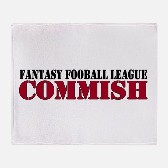 Fantasy Football Commish Throw Blanket