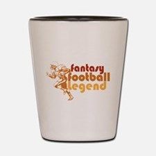 Retro Fantasy Football Legend Shot Glass