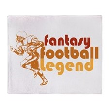 Retro Fantasy Football Legend Throw Blanket