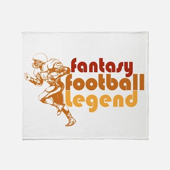 Retro Fantasy Football Legend Throw Blanket