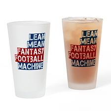 Fantasy Football Machine Drinking Glass