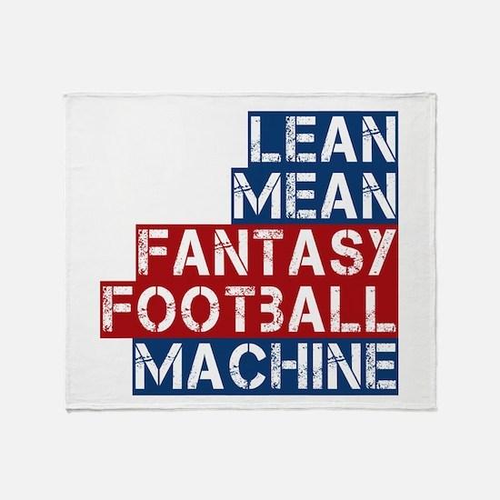 Fantasy Football Machine Throw Blanket