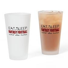 Eat Sleep Fantasy Football Drinking Glass