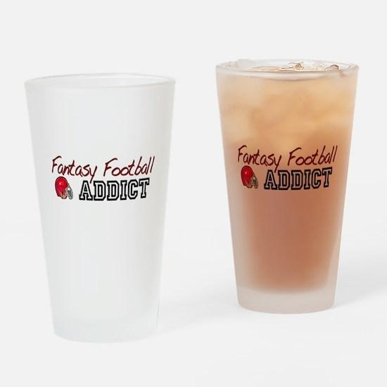 Fantasy Football Addict Drinking Glass
