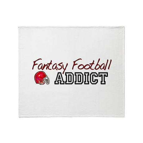 Fantasy Football Addict Throw Blanket