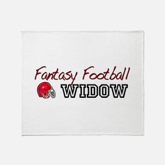 Fantasy Football Widow Throw Blanket