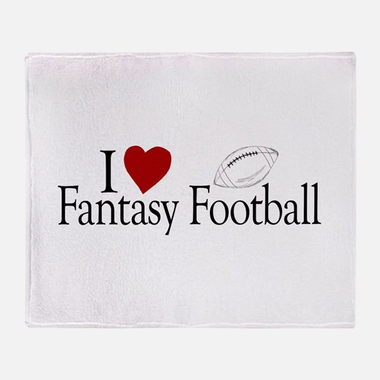 I Love Fantasy Football Throw Blanket