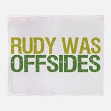 Rudy Was Offsides Throw Blanket