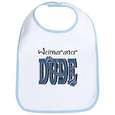 Weimeraner DUDE Bib