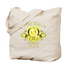I Wear Yellow for my Wife (fl Tote Bag
