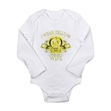I Wear Yellow for my Wife (fl Long Sleeve Infant B