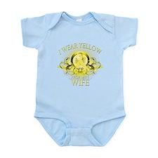 I Wear Yellow for my Wife (fl Infant Bodysuit