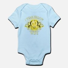 I Wear Yellow for my Wife (fl Infant Bodysuit