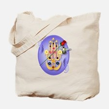 Hamsa and Flowers Tote Bag