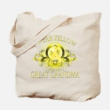 I Wear Yellow for my Great Gr Tote Bag