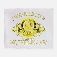 I Wear Yellow for my Mother I Throw Blanket