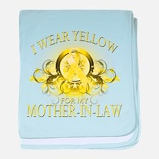 I Wear Yellow for my Mother I baby blanket
