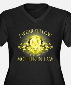 I Wear Yellow for my Mother I Women's Plus Size V-