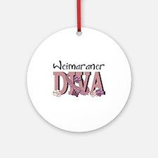 Weimeraner DIVA Ornament (Round)
