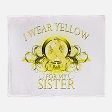 I Wear Yellow for my Sister ( Throw Blanket