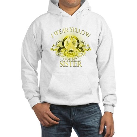 I Wear Yellow for my Sister ( Hooded Sweatshirt