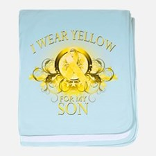 I Wear Yellow for my Son (flo baby blanket