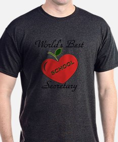 Worlds Best Teacher Apple secretary copy T-Shirt