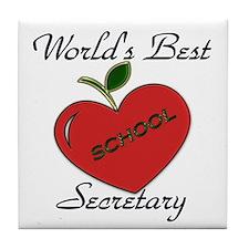 Unique School secretary Tile Coaster