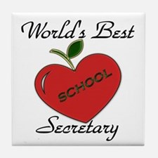 Cute School and education Tile Coaster
